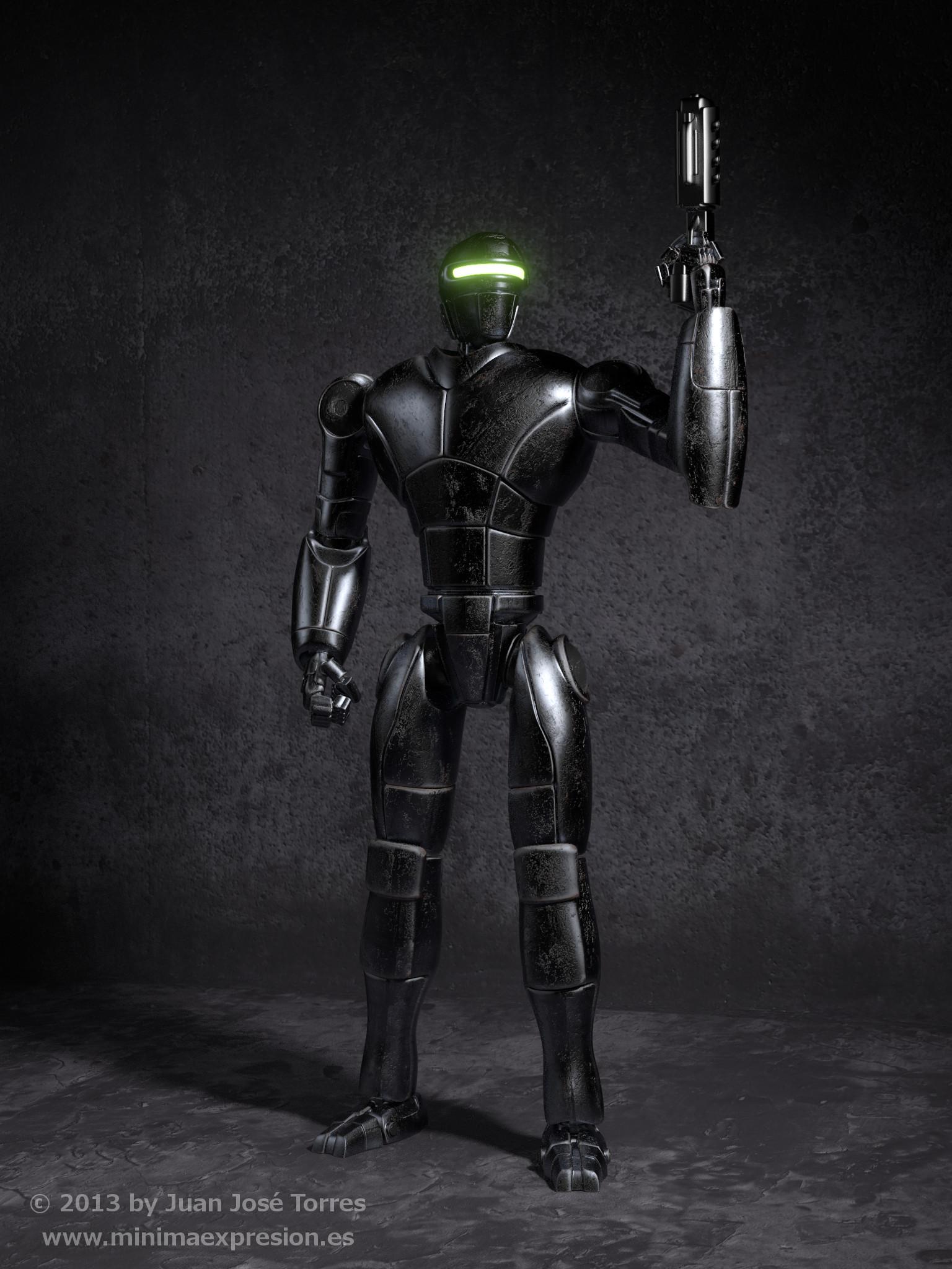 Robot Concept - Texturing and Shading (November 2013)